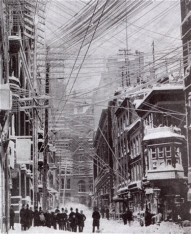 Powerlines Before the Blizzard of 1888