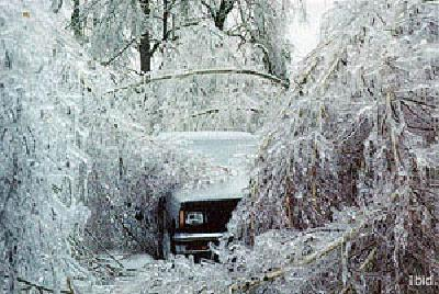 Ice Storm Buries Truck