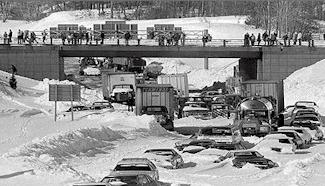 Highway Blocked in 1978