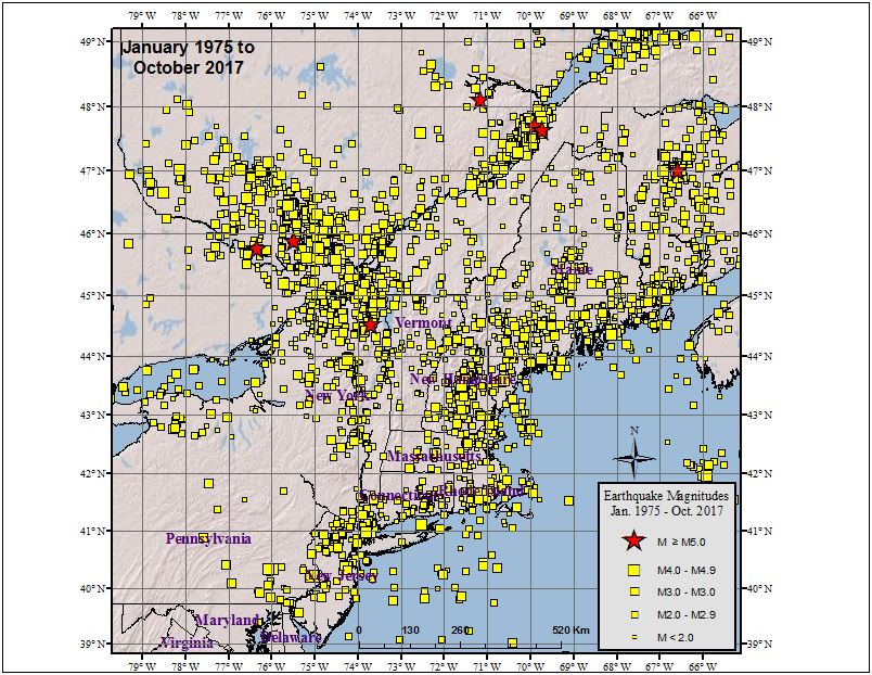 Machusetts Earthquakes : Northeast States Emergency ... on road map western ma, massachusetts western ma, map of berkshires massachusetts,
